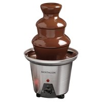 Nostalgia CFF970 3-Tier 1.5-Lb. Chocolate Fondue Fountain, Stainless Steel