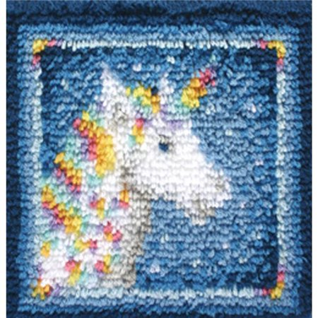Unicorn Wonderart Latch Hook Kit, 12 x 12 in.