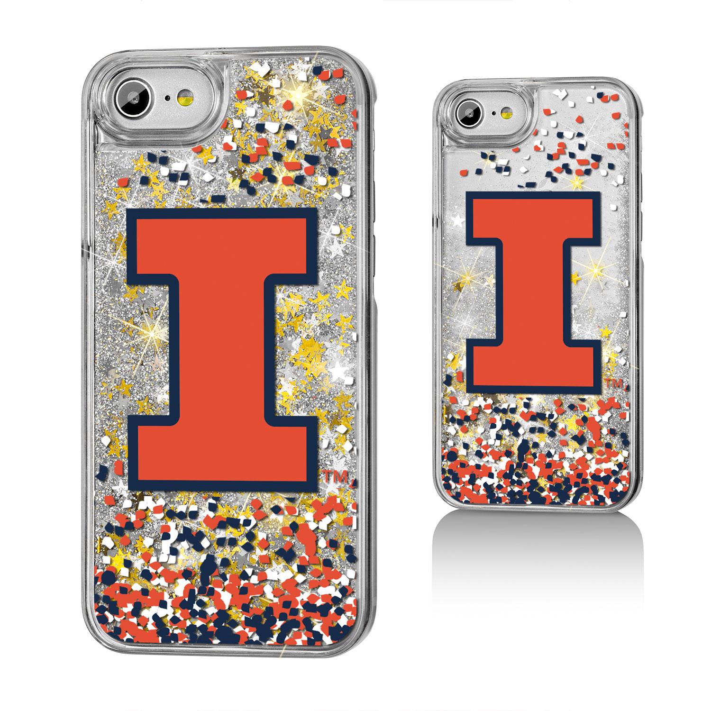 UI Illinois Fighting Illini Confetti Glitter Case for iPhone 8 / 7 / 6