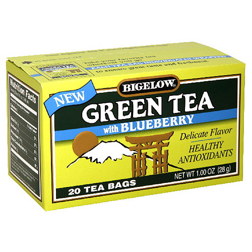 Bigelow Green Tea With Blueberry, 1.18 oz, 20ct (Pack of 6)