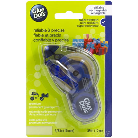 Glue Dots Permanent Glue Tape Dispenser, 39' - Glue Dot
