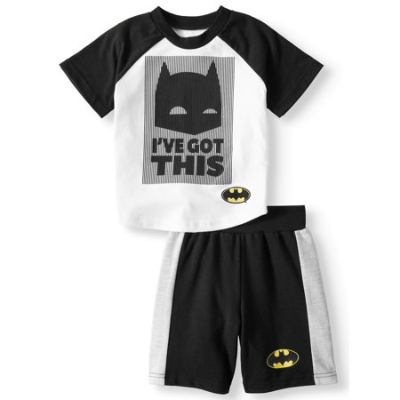 T-Shirt & Shorts, 2pc Outfit Set (Toddler - Black Toms Outfit