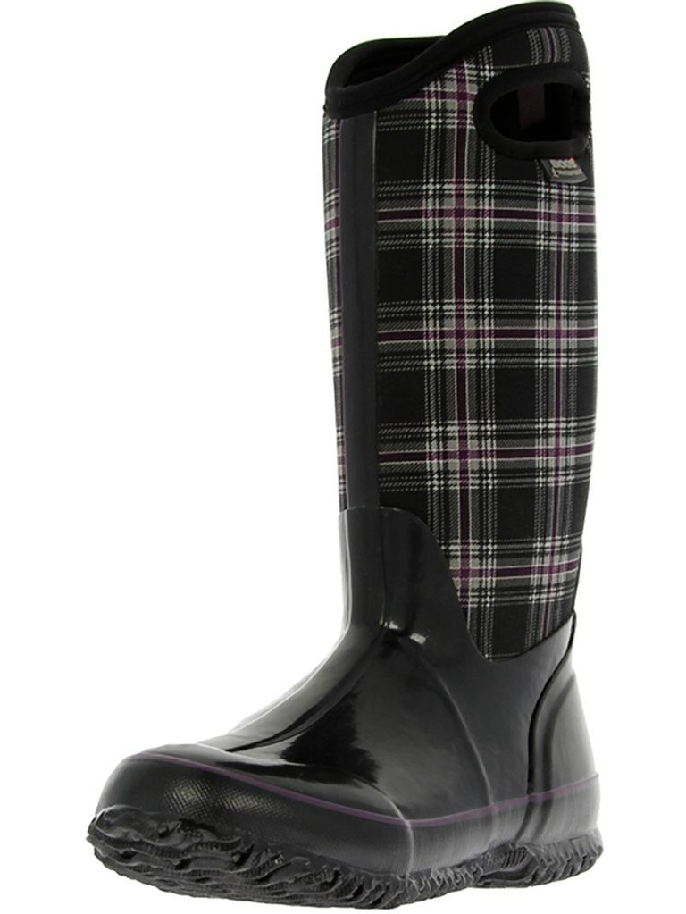 """Bogs Boots Girls Boys 10"""" Classic Winter Plaid WP Rubber 71544 by Bogs"""