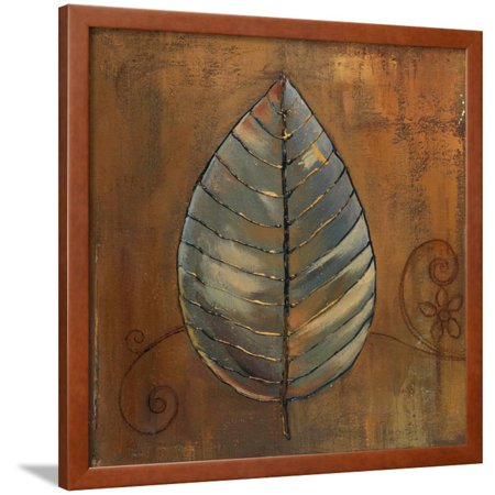 New Leaf III (Copper) Framed Print Wall Art By Patricia - Copper Leaves