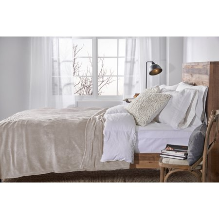Sunbeam Heated Electric Microplush Blanket with 10 heat settings, Queen, Beige