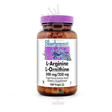 Bluebonnet Nutrition L-Arginine/L-Ornithine 500 Mg / 250 Mg, 50VC 500 Mg / 250 Mg