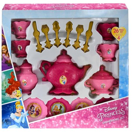 Pretend Play Disney Princess Dinnerware 26 Piece Set