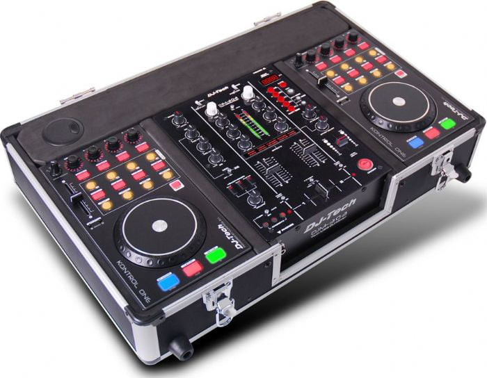 Dj Tech HYBRID303 Professional Computer Dj Workstation W  Digital Dj Mixer W twin Usb... by DJ Tech