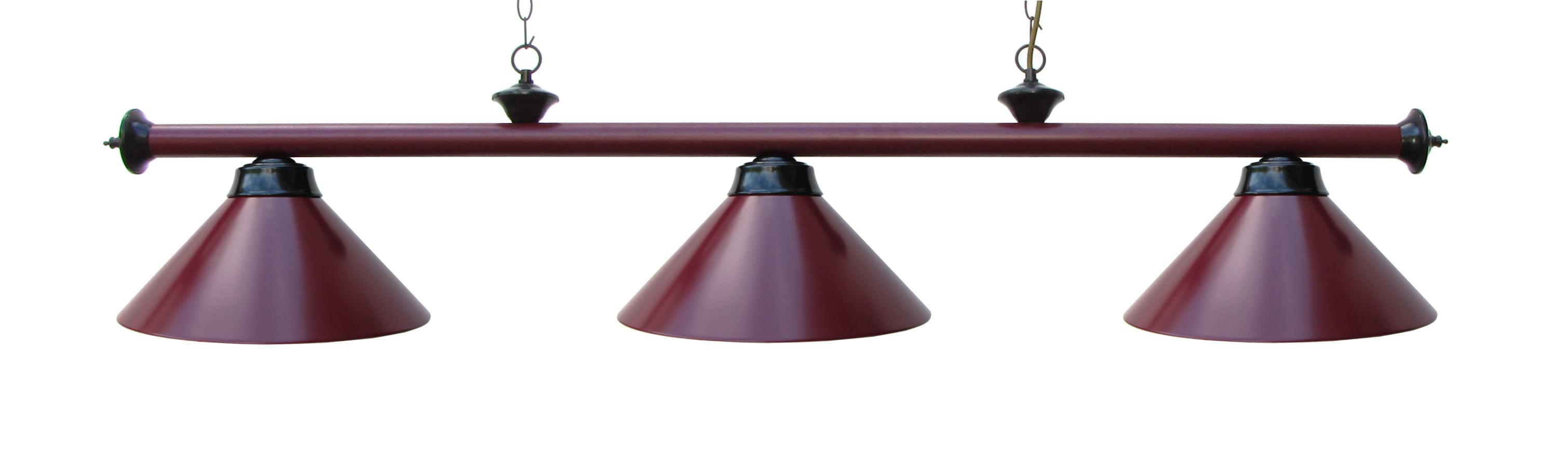 59 Pool Table Light Billiard Lamp Burdy Black With Metal Shades Com