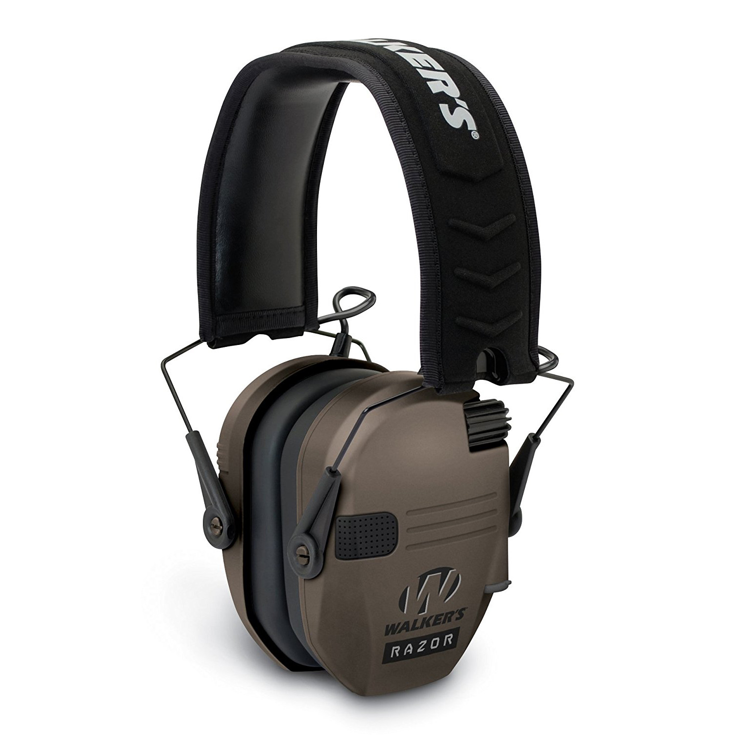 Walkers Razor Hearing Shooter Folding Earmuffs, Brown (Certified Refurbished)