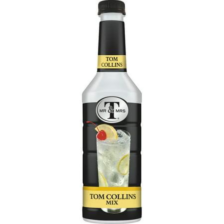 Mr & Mrs T Tom Collins Cocktail Mix, 1 L Bottles, 1 Count (Pack of