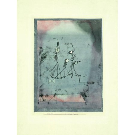 Abstract Expressionism Paintings - Twittering Machine Expressionism Abstract Art Print Wall Art By Paul Klee