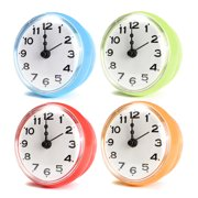 """Waterproof Kitchen Bathroom Bath Shower Clock Suction Cup Sucker Wall Decoration Dia. 7cm / 2.76"""" Battery Powered (not included)"""