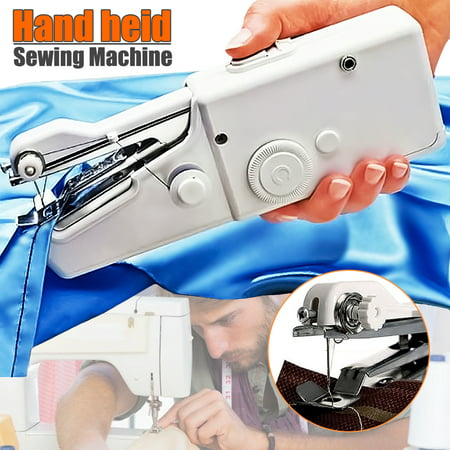Universal Sewing Supply - Portable Handheld Stitch sewingtool Sew Cordless Handy Sewing Machine Tool Universal for DIY Clothing Denim Apparel Sewing Fabric Zippers Crafts Supplies (without batteries)