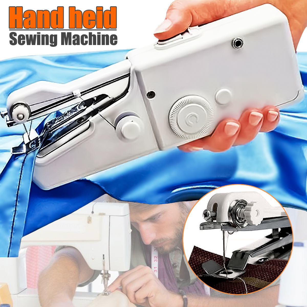 Portable Handheld Stitch sewingtool Sew Cordless Handy Sewing Machine Tool Universal for DIY Clothing Denim Apparel Sewing Fabric Zippers Crafts Supplies (without batteries)