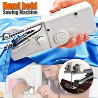 Handheld Portable Stitch Sew Cordless Handy Sewing Machine Quick Repair Tool Universal for DIY Clothing Denim Apparel Sewing Fabric Zippers Crafts Supplies (without batteries)
