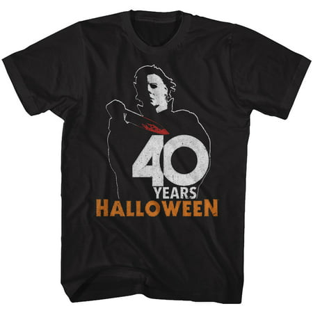 Halloween Scary Horror Slasher Movie Film 40 Years Halloween Adult T-Shirt Tee (Top 10 Halloween Films All Time)