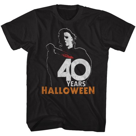 Halloween Scary Horror Slasher Movie Film 40 Years Halloween Adult T-Shirt Tee](Scary Family Films Halloween)