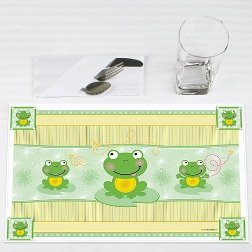 Froggy Frog Party Placemats Set of 12 by Big Dot of Happiness, LLC