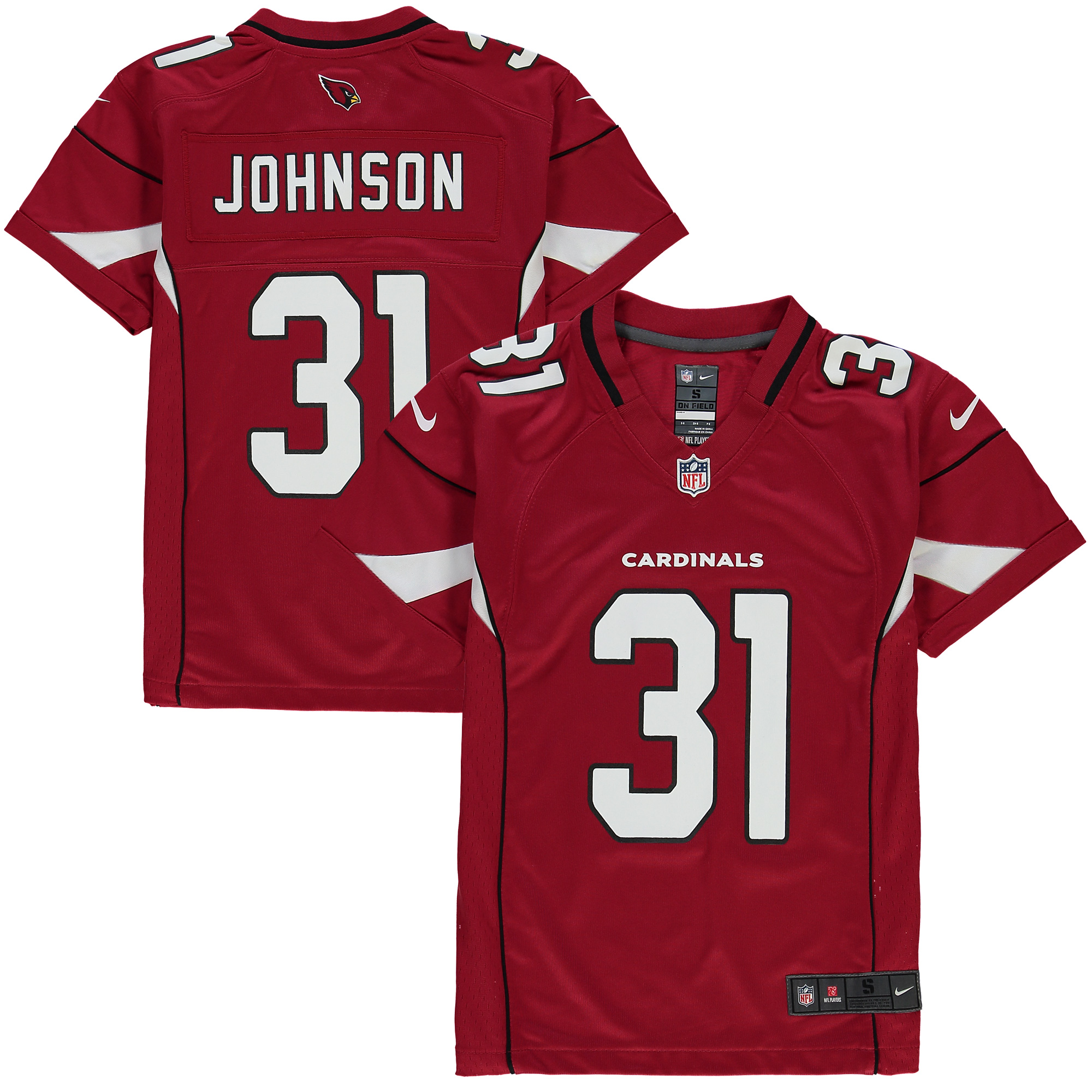 David Johnson Arizona Cardinals Nike Youth Team Color Game Jersey - Cardinal