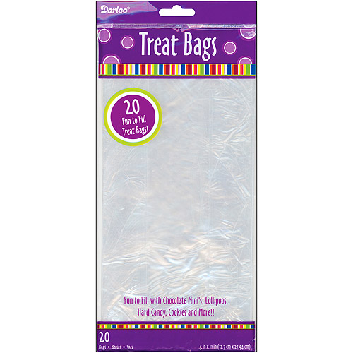 "Clear Treat Bags 5""X11"" 20/Pkg"