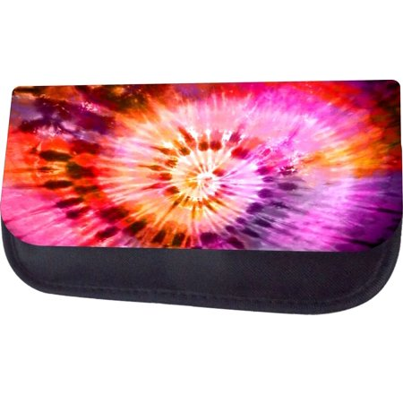 Tie Dye Bags (Tie Dye  - Black Multi-Purpose Cosmetic Case - Bag - with 2 Zippered Pockets and Nylon)