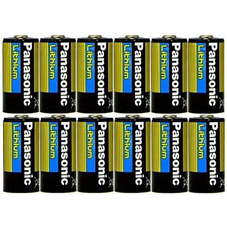 Cr123a Type - Panasonic CR123 CR123A 3V Lithium Battery x 12 Batteries