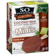 So Delicious Organic Dairy Free Minis Coconut Milk Frozen Dessert Fudge Bars - 4 CT