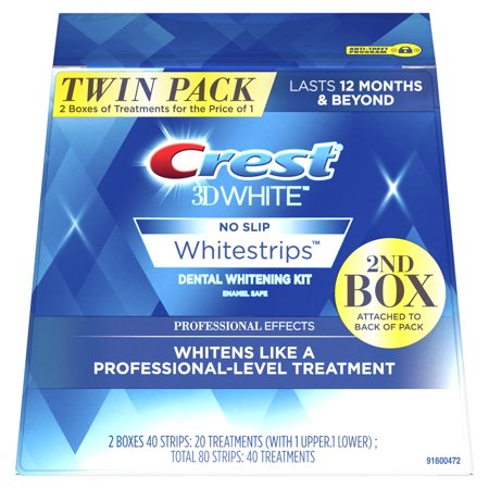 Crest 3D White Whitestrips Professional Effects,Twin Pack, 40 Treatments