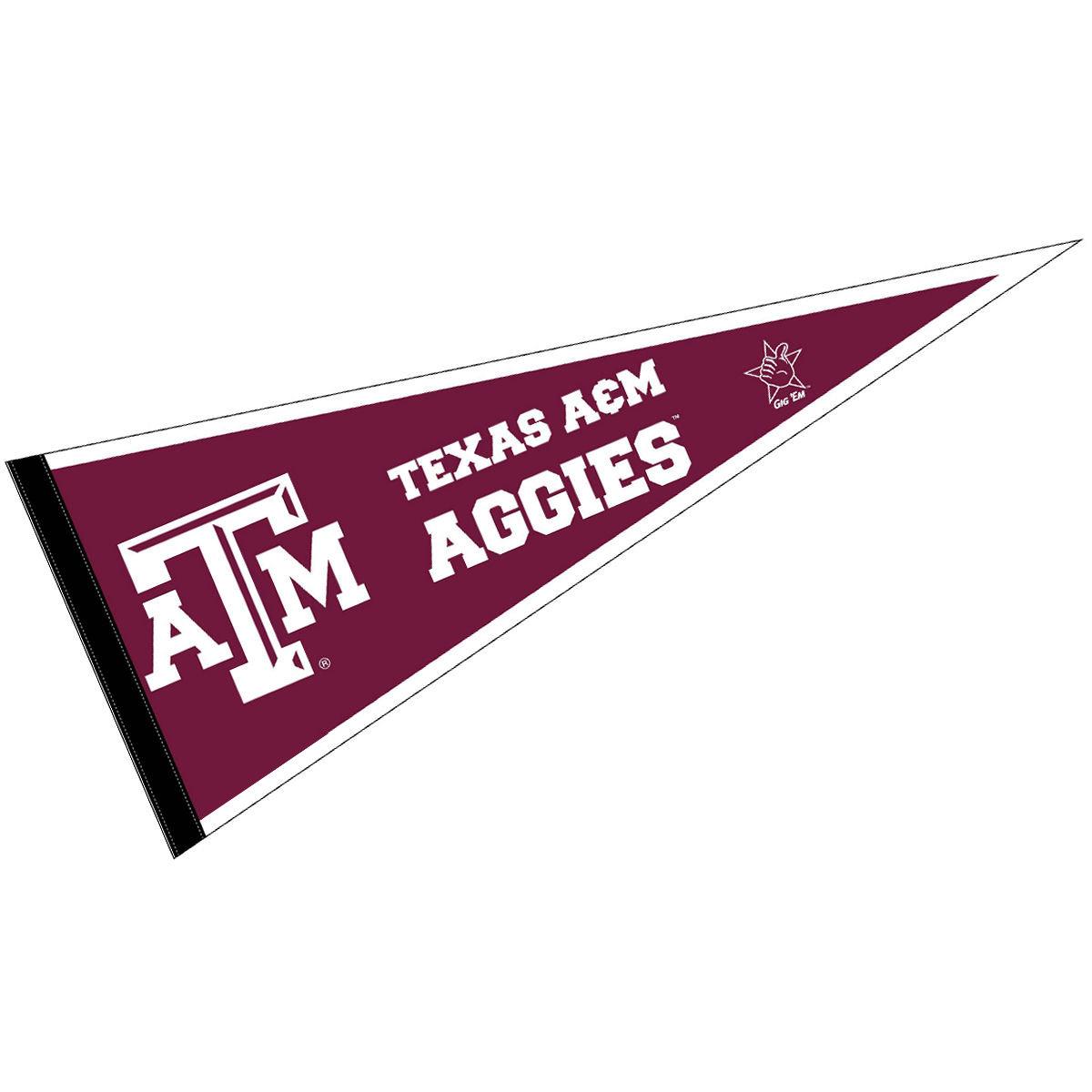 """Texas A&M Aggies 12"""" X 30"""" Felt College Pennant"""