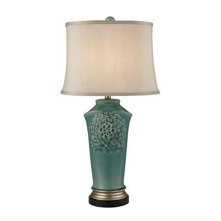 Dimond Lighting Organic Flowers Table Lamp in Seafoam