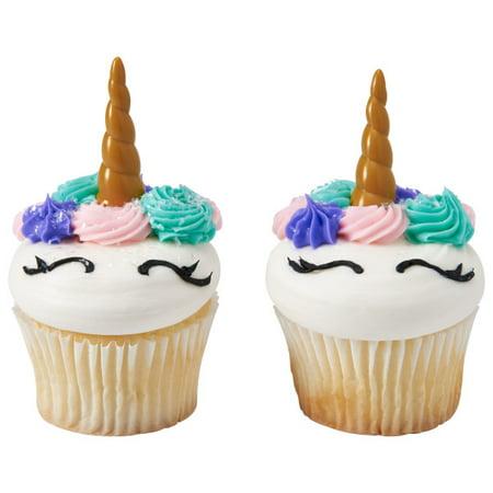 Unicorn Horn Cupcake Cake Decopics Pics Picks Toppers Decorations 12 Count ()