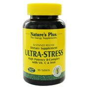 Nature's Plus - Ultra Stress High Potency B Complex with Vitamin C and Iron - 90 Tablets
