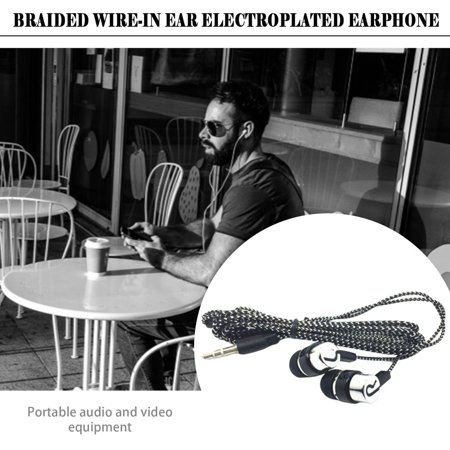 Braided Wiring Plating Headset Line K Song Mobile Phone Mp3 Headset Universal - image 8 of 8