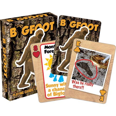 Bigfoot Playing Cards, Card Games by NMR Calendars