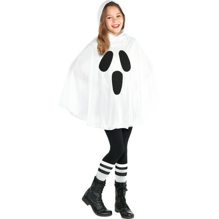 Ghost Poncho for Children, Makes an Easy Costume, With an Attached Hood