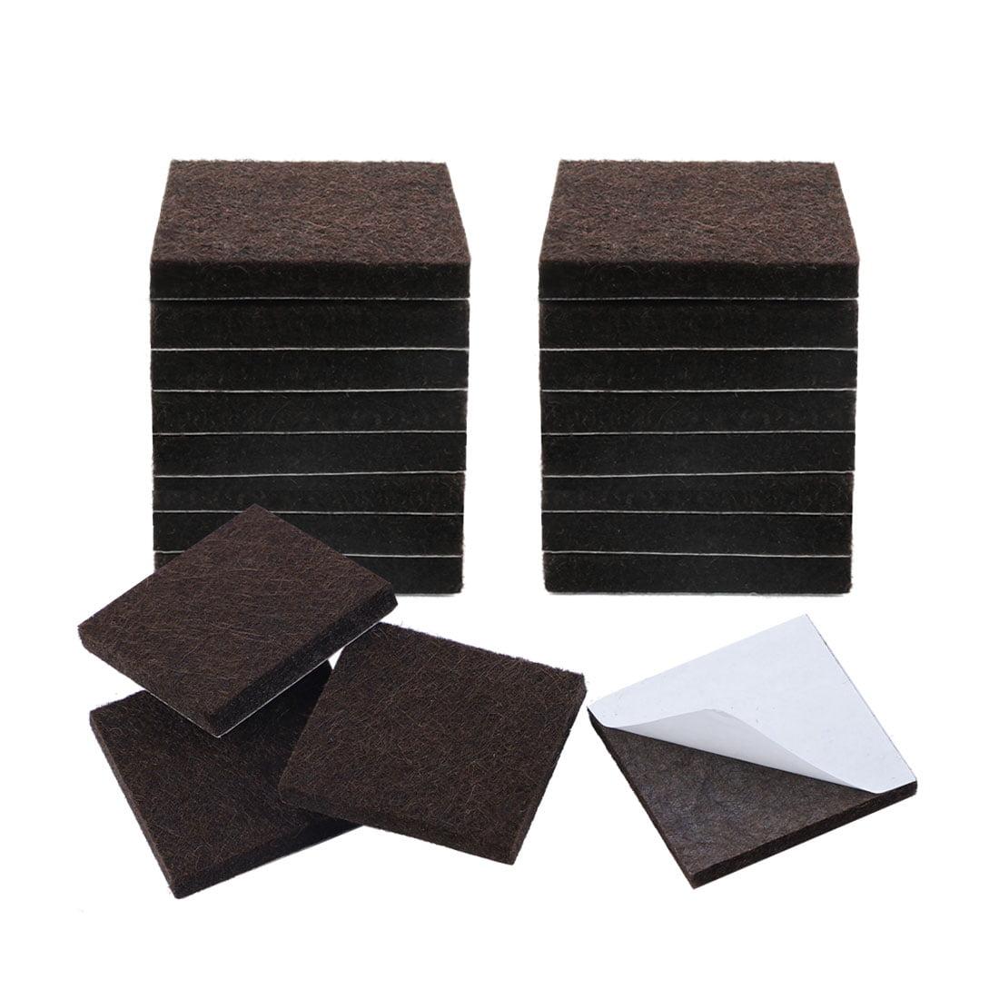 20PCS 1 Inch Square Chair Leg Floor Protectorss Wool Felt Furniture Pad Silicone