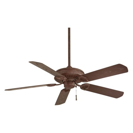 Sundowner Outdoor Fan - Minka Aire F589-VRT Sundowner 54 in. Indoor / Outdoor Ceiling Fan - Vintage Rust - ENERGY STAR