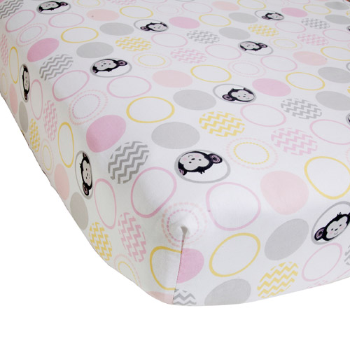 Lambs & Ivy Bedtime Originals Pinkie Crib Sheet
