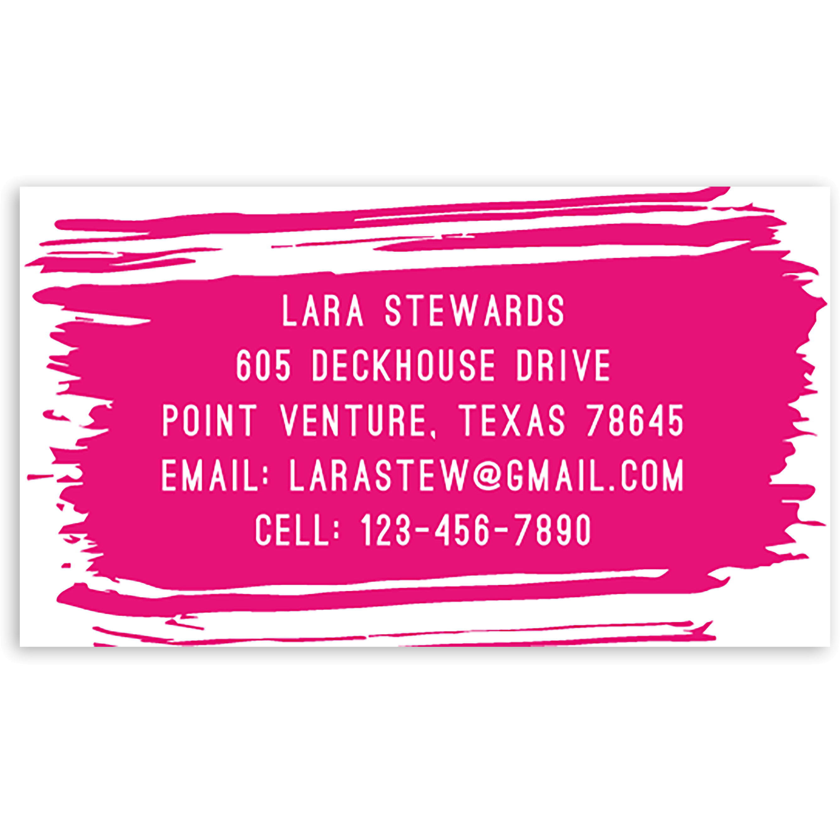 Make Things Happen - Personalized 3.5 x 2 Business Card
