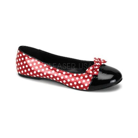 Women's Funtasma Mouse 16 Red Patent/White Polka Dots 5