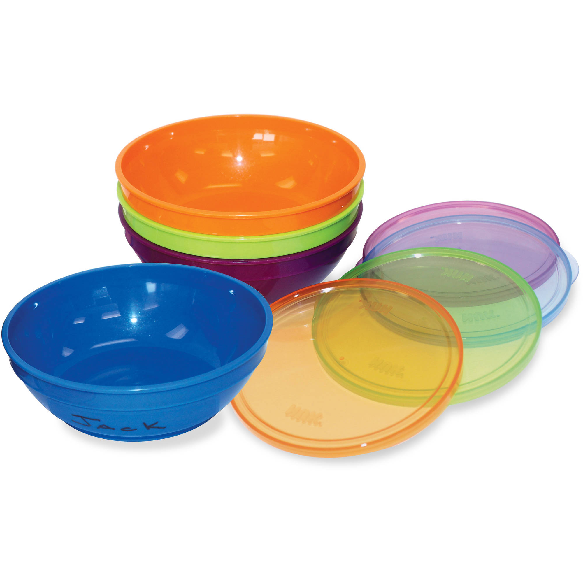 Gerber Graduates Bunch-A-Bowls Bowls And Lids, BPA-Free, 4ct