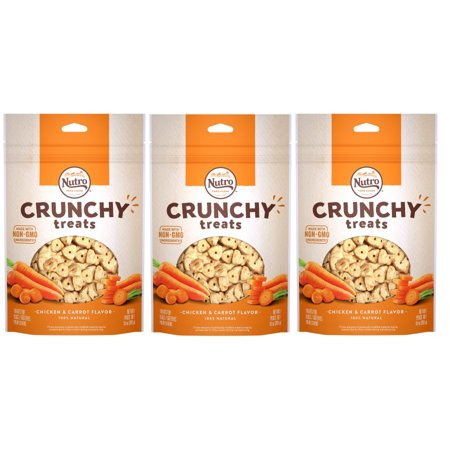 (3 Pack) NUTRO Crunchy Dog Treats Chicken & Carrot Flavor, 10 oz. - 3 Headed Dog