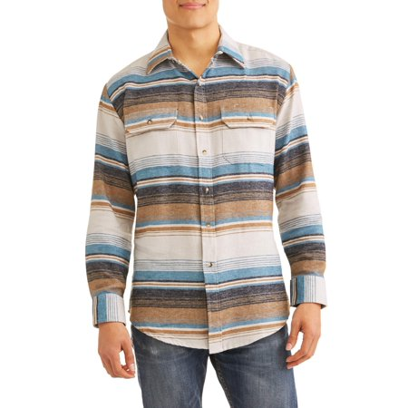 Autumn Flannel Autumn Flannel - Men's Long Sleeve Striped Flannel Western Shirt