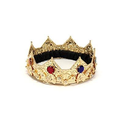 Gold Crown Adult Halloween Accessory
