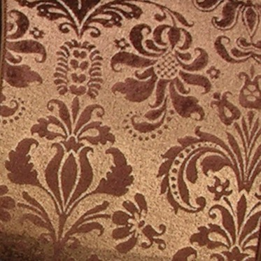 "Chocolate Brown Shiny Brocade Fabric Print Design Wired Polyester Craft Ribbon 5"" x 20 Yards"