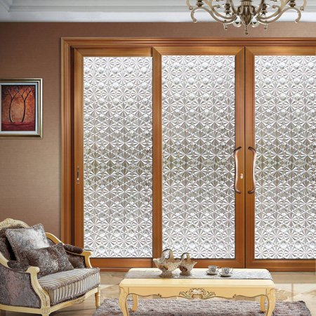 3D Privacy Window Films Sticker Non Adhesive Static Cling Reusable Glass Film for Home OFFICE Reusable Film For Heat Decorative Self-Adhesive Window FilmControl Sun Blocking Stained Glasses](Stained Glass Clearance)