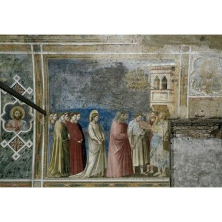 The Virgins Wedding Procession Giotto di Bondone (1266-1337 Florentine) Arena Chapel Cappella Degli Scrovegni Padua Italy Canvas Art - Giotto di Bondone (18 x 24)](Wedding Procession)