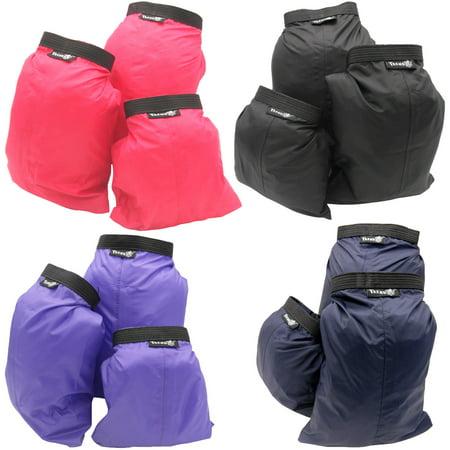 Aloksak Waterproof Bags - 4 Colors - Set of 3 Sizes Roll Top Waterproof Dry bag Kit Storage Compression Bag Sack Poch Packing Organizers Water Resistant Camping Travel