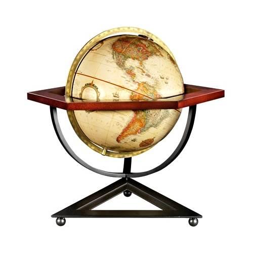 Frank Lloyd Wright Reproduction 12 Inch Globe w Hexagonal Cradle